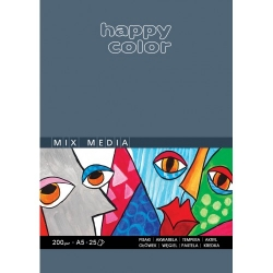 Blok do MIX Mediów a5 Happy Color